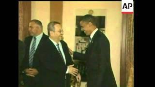 Democratic presidential contender Barack Obama held a breakfast meeting Wednesday with Israeli Defen