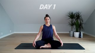 Day 1   20 days yoga challenge SATS - Relax