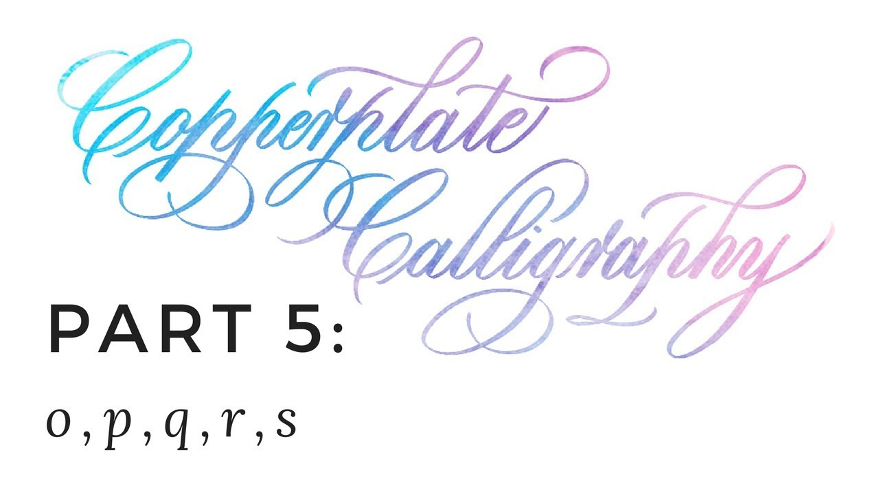 Copperplate Calligraphy Font Free Copperplate Calligraphy 5 Of 7 O P Q R S