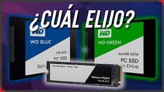 💪WD BLUE vs. 💲WD GREEN vs. 🏃♂WD BLACK - ✋TODAS las diferencias🤚