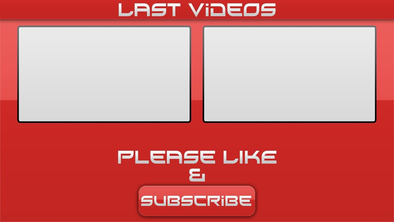 Free red outro template video for sony vegas pro 11 download link youtube for Outro image