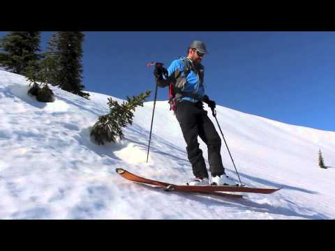 Backcountry skiing tip - Reversing direction on a steep slope