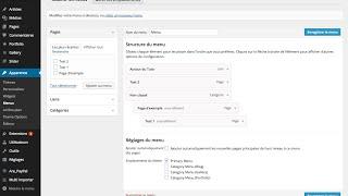 Comment créer des menus et sous menus sur WordPress