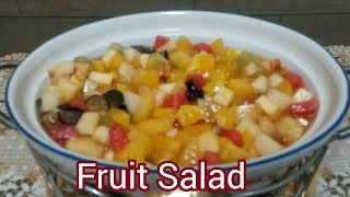 Easy Delicious Fruit Salad Recipe | Healthy Fruit Salad | How to make fruit salad |