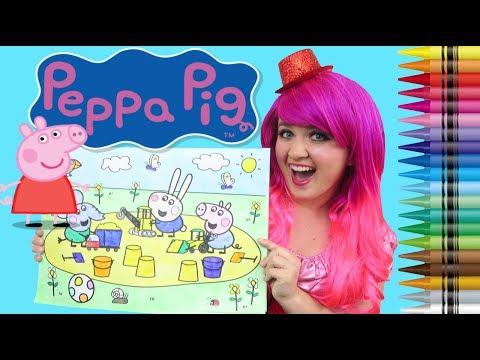 Coloring Peppa Pig George & Friends JUMBO Coloring Pad Crayola ...