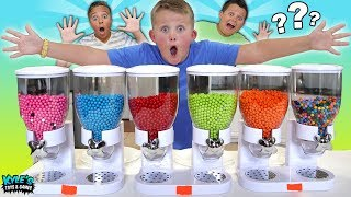 MYSTERY CANDY DISPENSER ROULETTE GAME! FUN FUN FUN