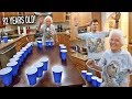 92 YEAR OLD BEATS ME AT WATER PONG! (Ft. ROSS SMITH)