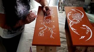 видео Роспись мебели
