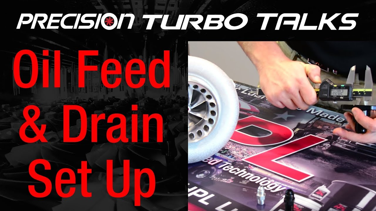 Oil Feed and Drain Set Up on a PTE Turbocharger