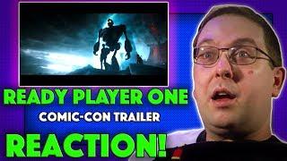 Reaction! ready player one comic-con trailer - tye sheridan movie 2018