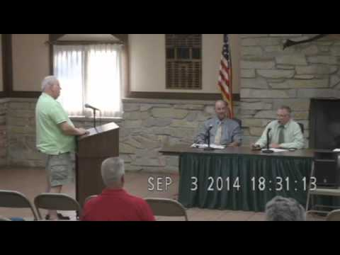 Morton, IL Town Hall Meeting on Water Treatment - September 3, 2014