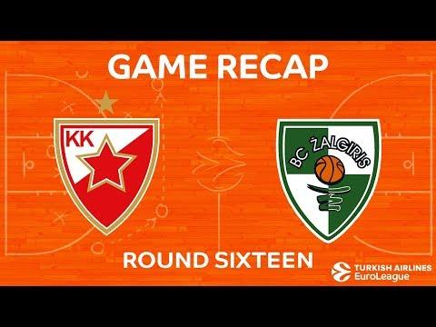 Highlights: Crvena Zvezda mts Belgrade - Zalgiris Kaunas