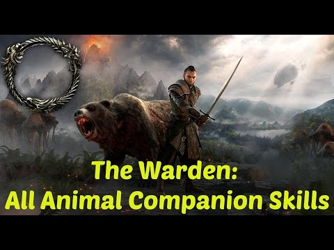 ESO: The Warden: ALL Animal Companion Skills, Abilities, and Morphs