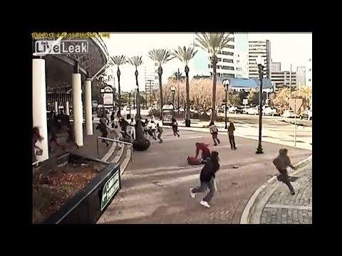 Как выглядят ~80% оружейных убийств в США - стрельба днем на площади