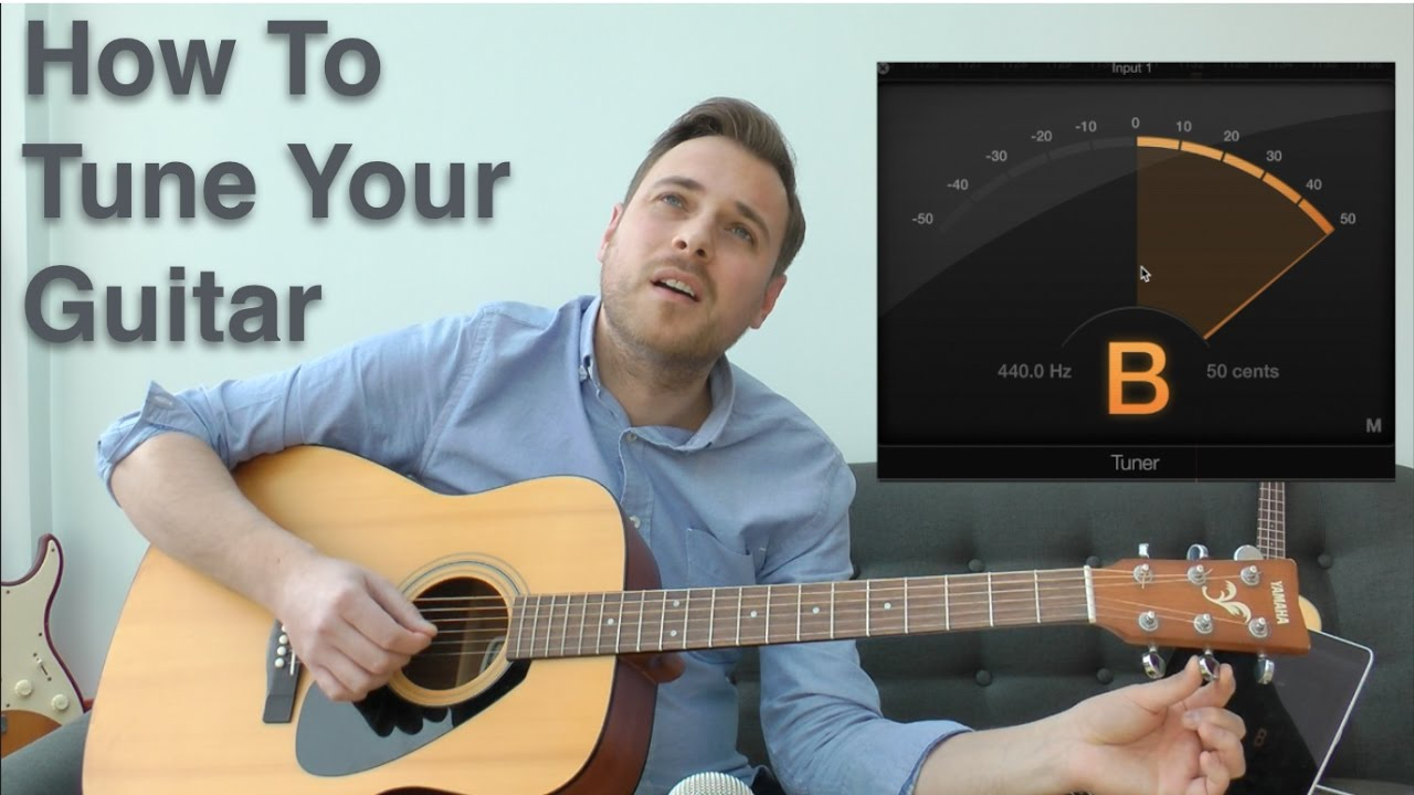 how to tune a guitar guitar tuner tuning a guitar how to tune your guitar youtube. Black Bedroom Furniture Sets. Home Design Ideas