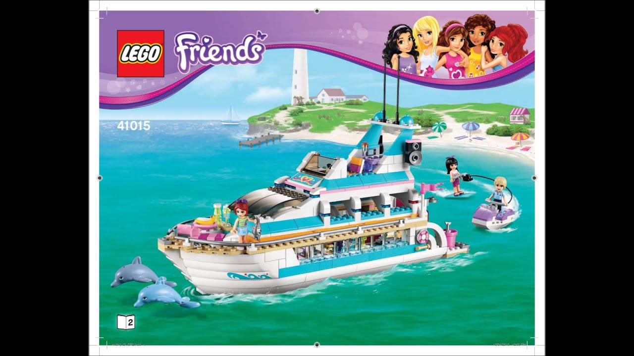 Lego Friends 41015 Dolphin Cruiser Building Instructions Youtube