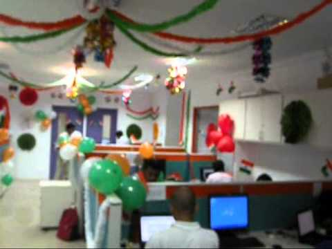 Independence day celebration at chennai office of one97 for 15th august independence day decoration ideas