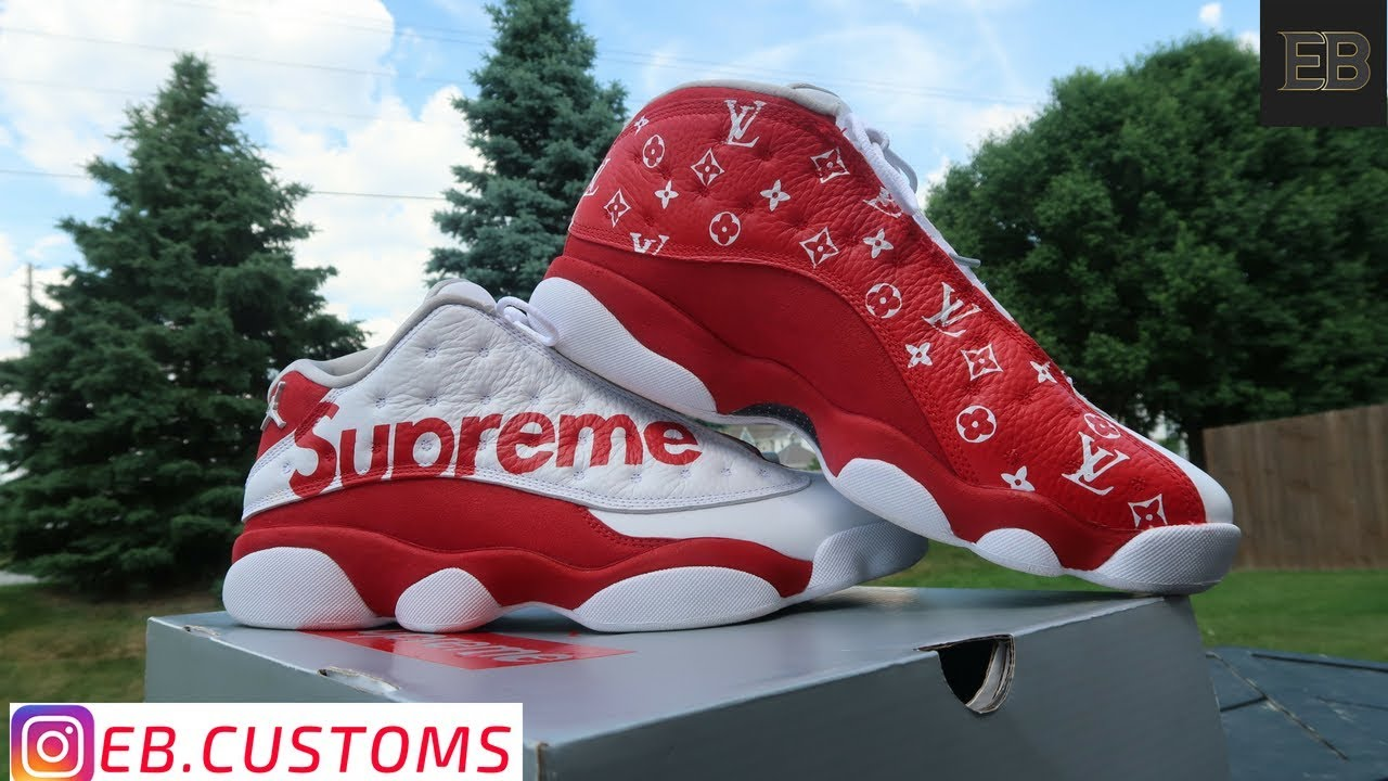 "f9a865091804 LV X SUPREME "" Air Jordan 13 Full Custom - YouTube"