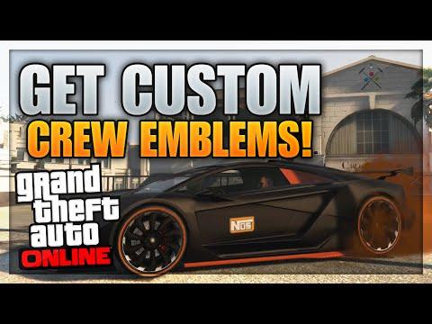 GTA 5 Online: Get Free CUSTOM Crew Emblems! (Change Crew Emblem)