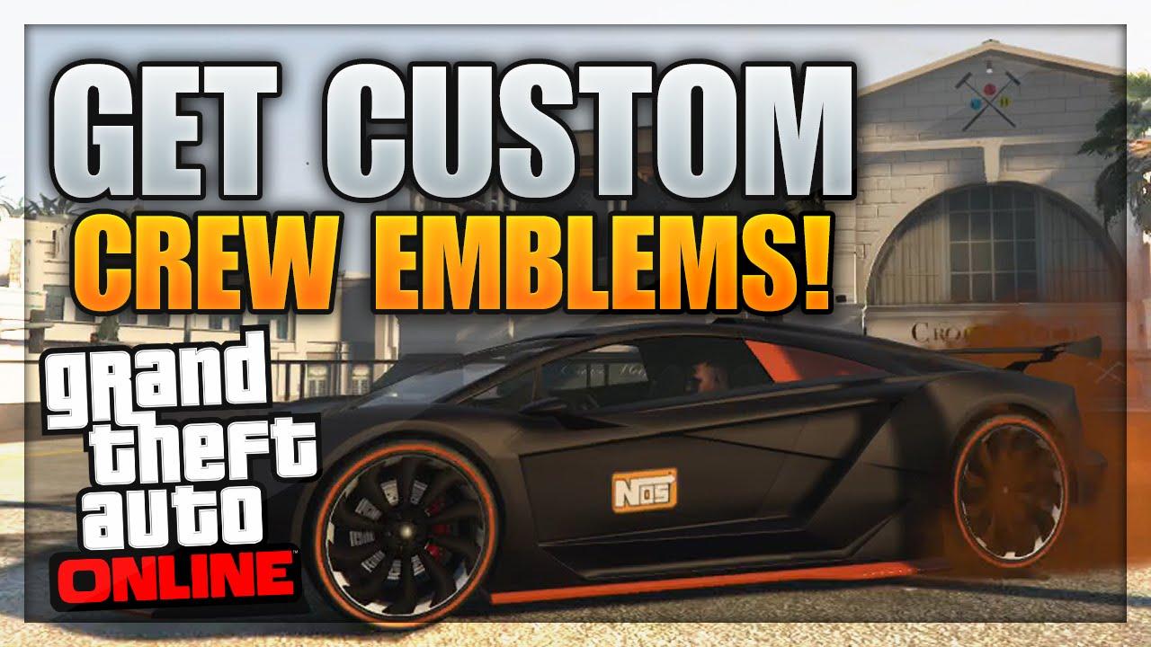 Gta online crew emblem on car
