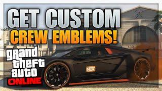 "GTA 5 Online: Get Free CUSTOM Crew Emblems! (Change Crew Emblem) ""GTA 5 Crew Emblem Glitch"""