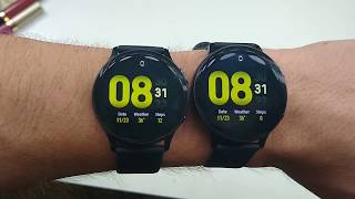 Samsung Galaxy Watch Active2 40mm vs 44mm Size Comparison