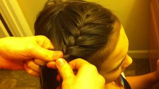 side french braid hair tutorial for beginners