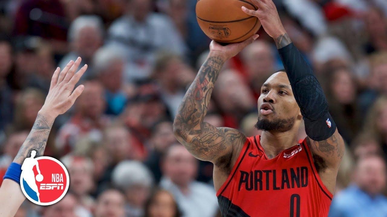 Damian Lillard drops double-double in win   Mavericks vs. Trail Blazers   NBA Highlights