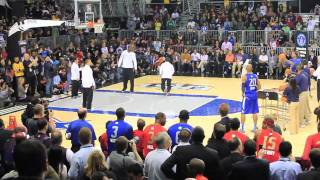 Ray Allen & Paul Pierce vs. Kevin Durant & Dirk Nowitzki - 2011 NBA All-Star Practice - World Record