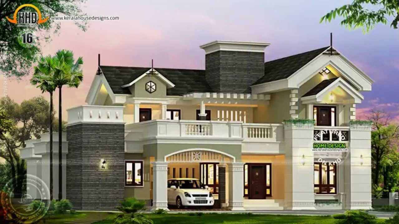 House designs of august 2014 youtube for Kerala new house plans