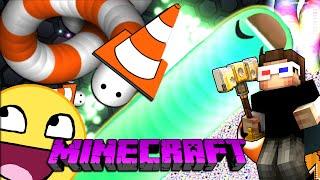EN BÜYÜK PÖRTLEK GÖZLÜ YILAN OLDUM!! - Minecraft Slither.io ve Agar.io