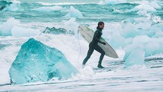 Surf Iceland Film - Surfing Among Gigantic Icebergs