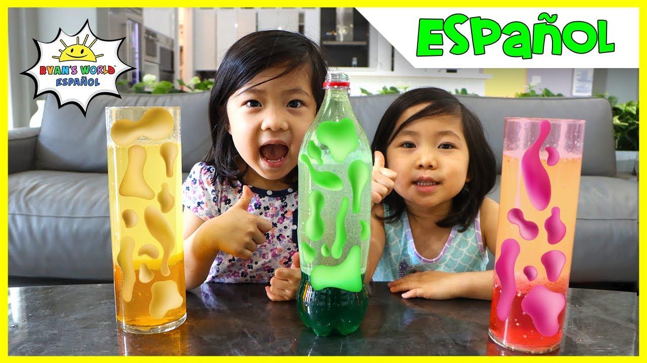 Experimento Científico de Lámpara de Lava Casera Fácil de Bricolaje Para Niños!