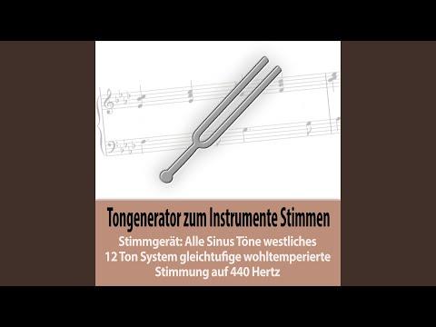 Sinuston Tonhöhe C#5/Db5 - 554,365 Hz - zweigestrichenes cis/des