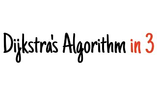 Dijkstra's algorithm in 3 minutes — Review and example