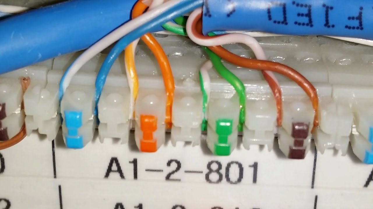 how to punch down a 110 block patch panel youtube 110 patch panel wiring diagram [ 1280 x 720 Pixel ]