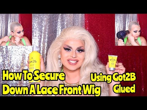 HOW TO SECURE A LACE FRONT WIG WITH GOT 2B GLUED   EASY DRAG TUTORIALS   JAYMES MANSFIELD