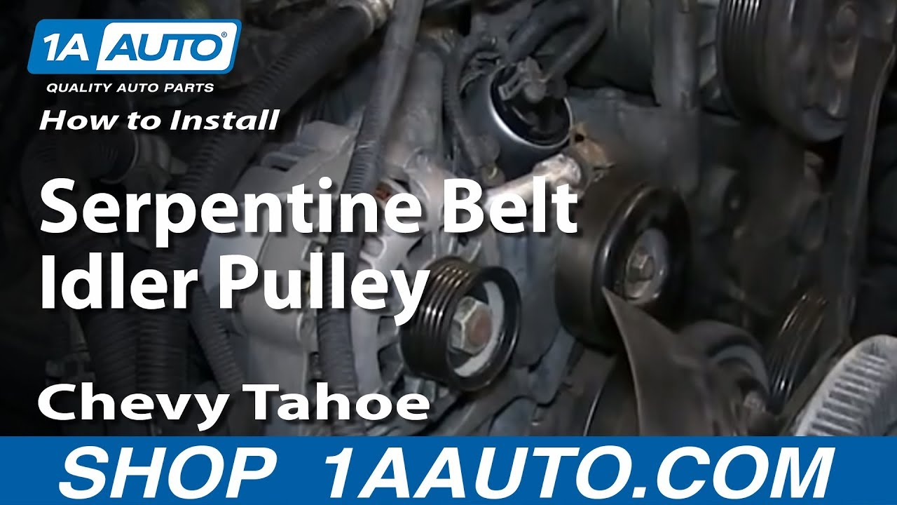 how to install replace serpentine belt idler pulley 1996 99 chevy rh youtube com