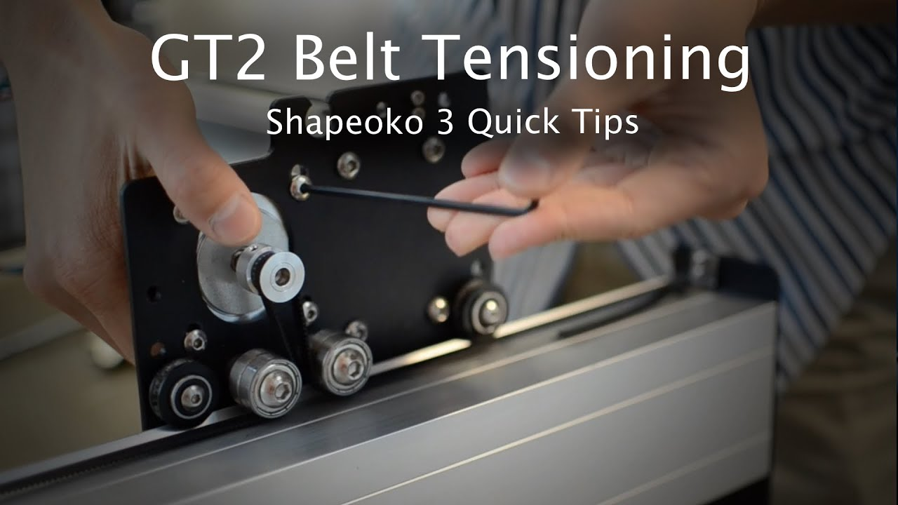 How to Tension GT2 Belts on a (2015) Shapeoko 3 - - vimore org