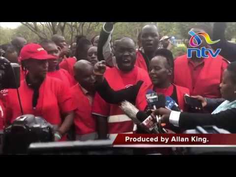 Kenyans hold anti-corruption protest at Uhuru Park, Nairobi