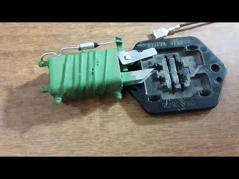 Nissan March K12. Замена резистора печки на Шнивовский