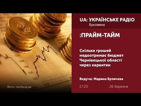 Суспільне Буковина: ПРАЙМ-ТАЙМ: Скільки грошей недоотримає бюджет Чернівецької області через карантин?