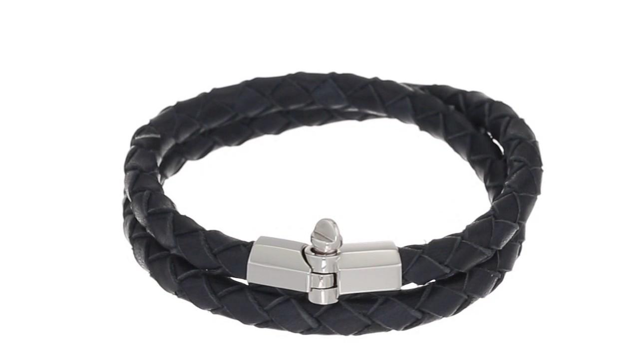 Miansai Rovos Leather Double Wrap Bracelet Sku 8855242