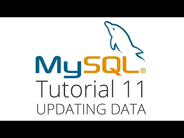 MySQL tutorial 11 - Update a row