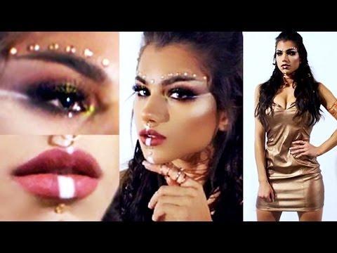 Warrior Princess HALLOWEEN Makeup Tutorial! + DIY Costume Outfit Idea & Hair!