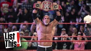 Every Goldberg championship win: WWE List This!