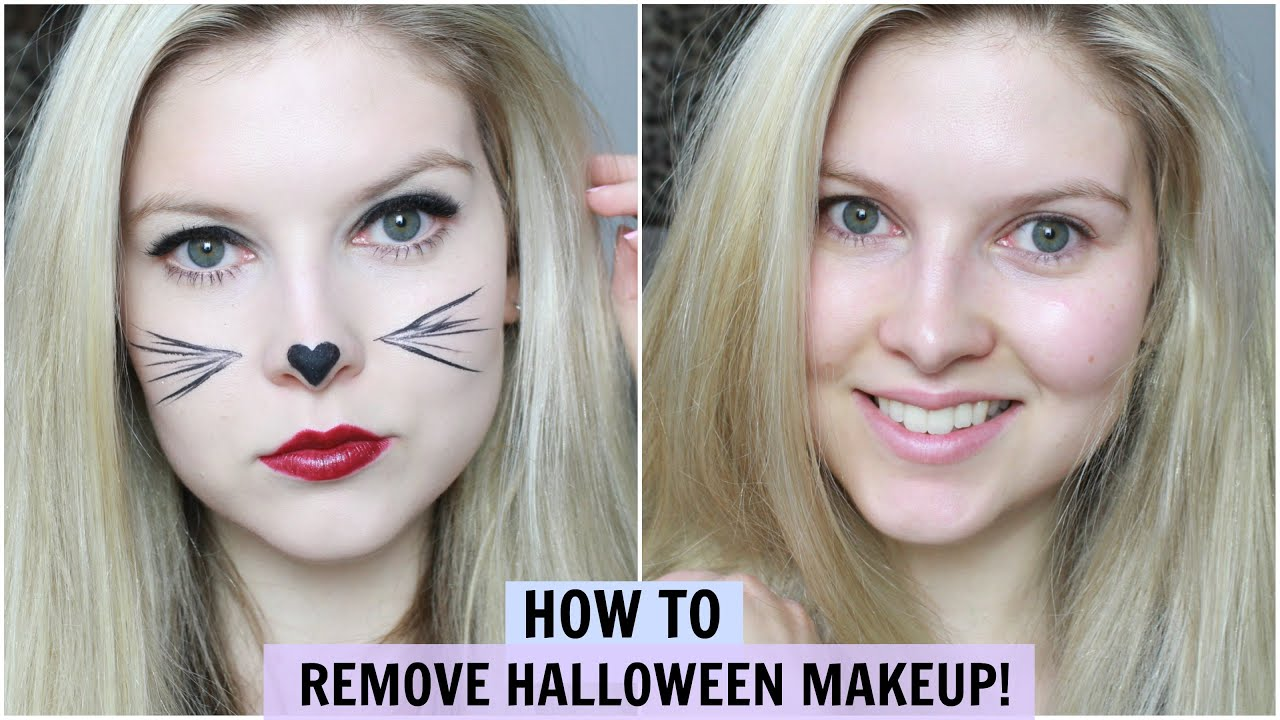 How To Remove Heavy Fancy Dress/Halloween Makeup! - YouTube