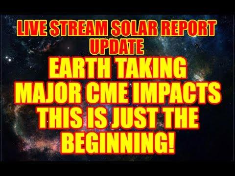 "SOLAR SHOCKWAVE ""LIVE STREAM"" UPDATE - MAJOR CME IMPACTING EARTH"