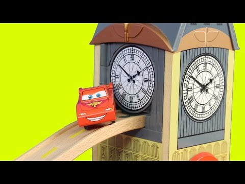 DIsney Pixar Cars Wooden Lightning McQueen Guido Luigi Red Mack Mater Big Bentley Breakout