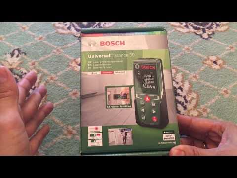 Распаковка и обзор лазерного дальномера Bosch UniversalDistance 50